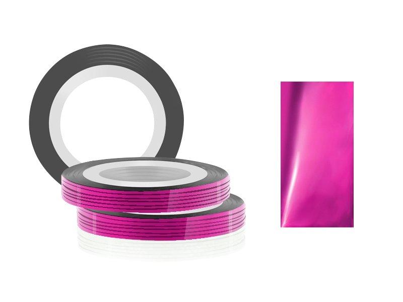 Jessnail, Фольга для дизайна в рулонах 20м*0,8мм №06, малиновый - Rose redСамоклеющаяся лента для дизайна ногтей<br>Фольга для дизайна в рулонах20м*8мм №06, малинового цвета.<br>