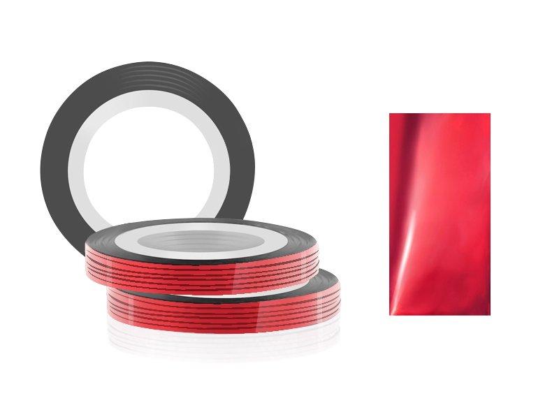 Jessnail, Фольга для дизайна в рулонах 20м*0,8мм №05, красный/Right red