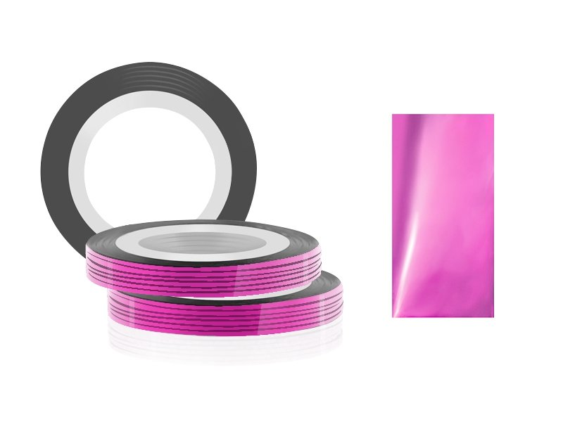 Jessnail, Фольга для дизайна в рулонах 20м*0,8мм №07, розовый - PinkСамоклеющаяся лента для дизайна ногтей<br>Фольга для дизайна в рулонах 20м*8мм №07, розового цвета<br>
