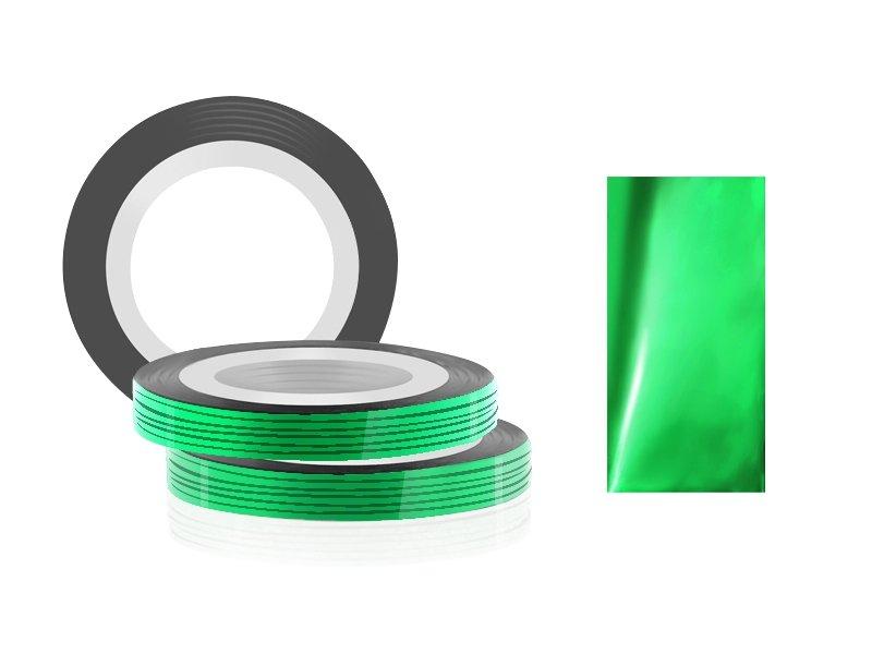 Jessnail, Фольга для дизайна в рулонах 20м*0,8мм №08, зеленый - GreenСамоклеющаяся лента для дизайна ногтей<br>Фольга для дизайна в рулонах 20м*8мм №08, зеленого цвета<br>