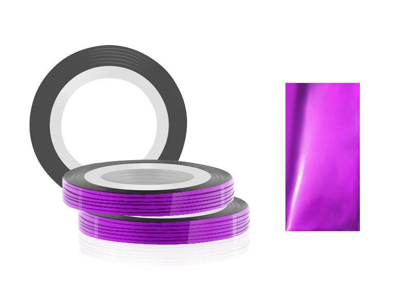 Jessnail, Фольга для дизайна в рулонах 20м*0,8мм №09, фиолетовый - VioletСамоклеющаяся лента для дизайна ногтей<br>Фольга для дизайна в рулонах 20м*8мм №09, фиолетового цвета<br>