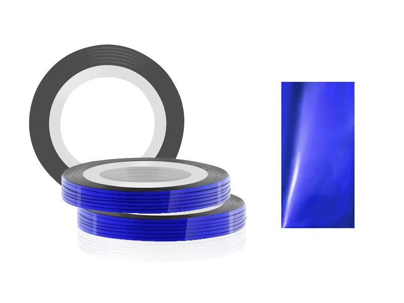Jessnail, Фольга для дизайна в рулонах 20м*0,8мм №10, темно-синий - Dark blueСамоклеющаяся лента для дизайна ногтей<br>Фольга для дизайна в рулонах 20м*8мм №10, темно-синего цвета<br>