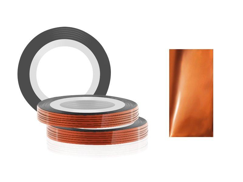 Jessnail, Фольга для дизайна в рулонах 20м*0,8мм №12, кофе - CoffeeСамоклеющаяся лента для дизайна ногтей<br>Фольга для дизайна в рулонах 20м*8мм №12, цвета кофе<br>
