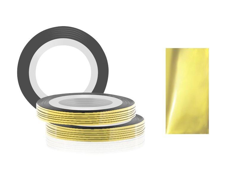 Jessnail, Фольга для дизайна в рулонах 20м*0,8мм №16, желтый/YellowСамоклеющаяся лента для дизайна ногтей<br>Фольга для дизайна в рулонах 20м*8мм №16, желтого цвета<br>