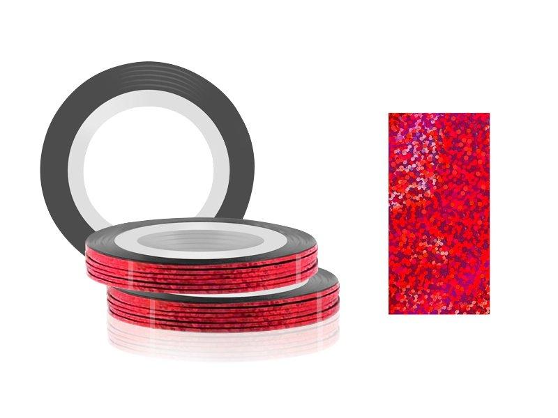 Jessnail, Фольга для дизайна в рулонах 20м*0,8мм №21, голография красный/Laser red