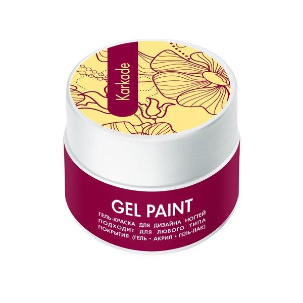 ruNail, Гель-краска (классическая, Каркаде, Karkade), 7,5 г, банкаГель краски RuNail<br>Гель-краска для художественной росписи и плоскостного дизайна ногтей, а также создания оригинального френча.<br>