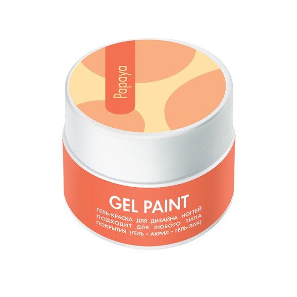 ruNail, Гель-краска (классическая, Папайя, Papaya), 7,5 г, банкаГель краски RuNail<br>Гель-краска для художественной росписи и плоскостного дизайна ногтей, а также создания оригинального френча.<br>