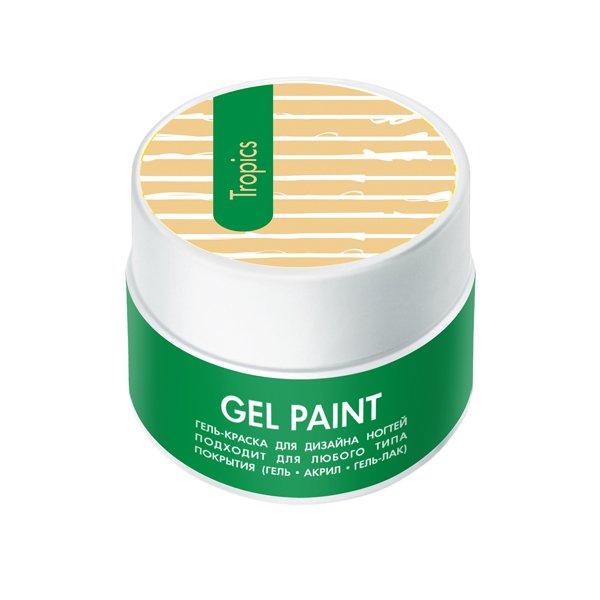 ruNail, Гель-краска (классическая, Тропики, Tropics), 7,5 г, банкаГель краски RuNail<br>Гель-краска для художественной росписи и плоскостного дизайна ногтей, а также создания оригинального френча.<br>