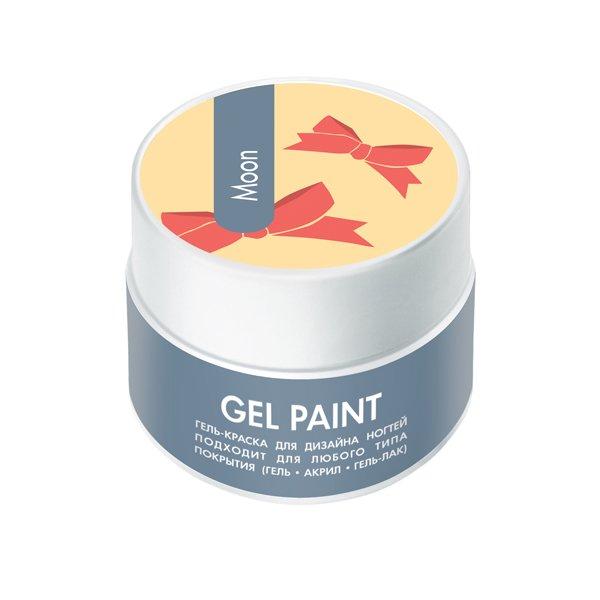 ruNail, Гель-краска (с блестками, Луна, Moon), 7,5 г, банкаГель-краски RuNail<br>Гель-краска для художественной росписи и плоскостного дизайна ногтей, а также создания оригинального френча.<br>