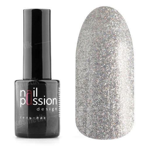 Nail Passion, Гель-лак - Блеск алмазов 4001 (10 мл.)Nail Passion<br>Гель-лак,cеребряный, содержит большое количество мелких голографических блесток, плотный<br>