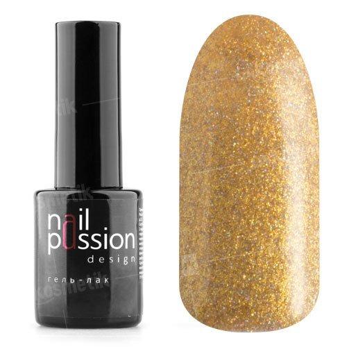Nail Passion, Гель-лак - Золотой дождь 4002 (10 мл.)Nail Passion<br>Гель-лак,золотой, содержит большое количество мелких голографических блесток, плотный<br>