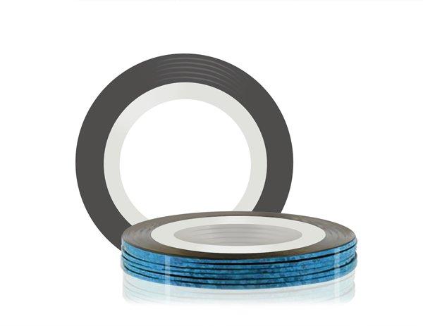 ruNail, Самоклеющаяся лента для дизайна ногтей (синяя), 20 мСамоклеющаяся лента для дизайна ногтей<br>Декоративная лента на клейкой основе позволяет легко и быстро создать оригинальный дизайн ногтей.<br>