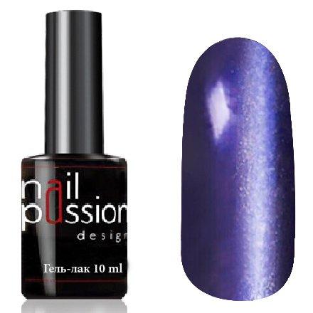 Nail Passion, Гель-лак Кошачий глаз - Метеоритный дождь 7008 (10 мл.)Nail Passion<br>Гель-лак,темно-фиолетовый, с эффектом Кошачий глаз, плотный<br>