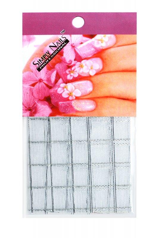 Simply Nails, Шелк для дизайна (Бело-серебряный квадрат)