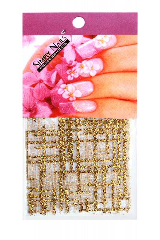 Simply Nails, Шелк для дизайна (Золотая решетка)Шелк для дизайна<br>Идеально подходит для создания роскошного дизайна.<br>