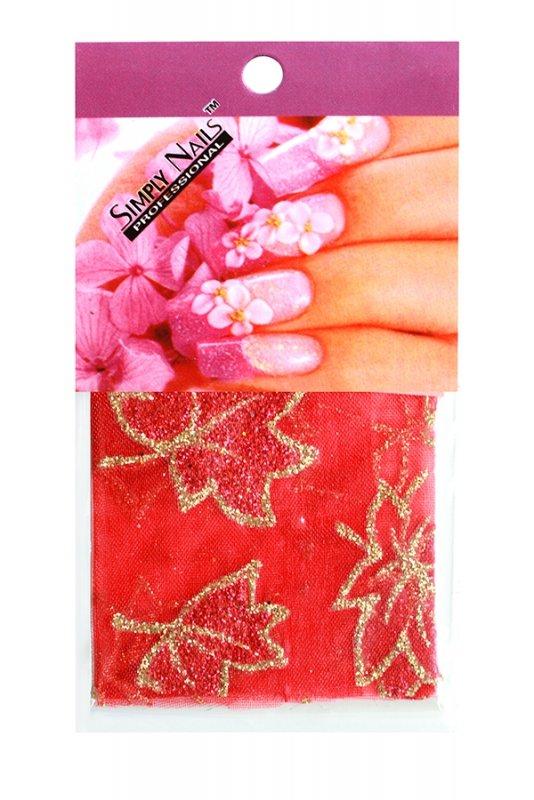 Simply Nails, Шелк для дизайна (Кленовый лист)Шелк для дизайна<br>Идеально подходит для создания роскошного дизайна.<br>