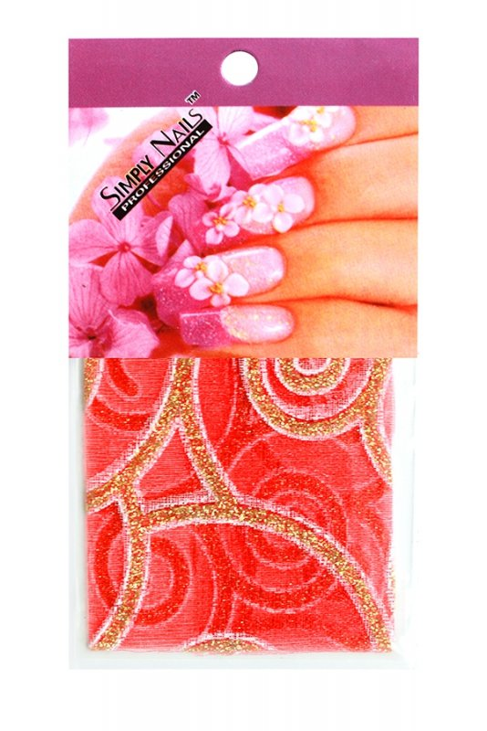 Simply Nails, Шелк для дизайна (Красная вьюга)