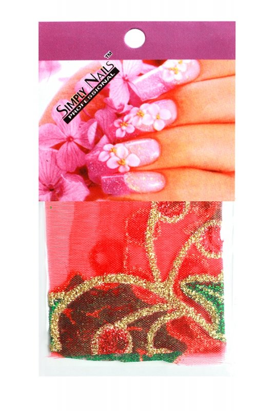 Simply Nails, Шелк для дизайна (Красная калина)