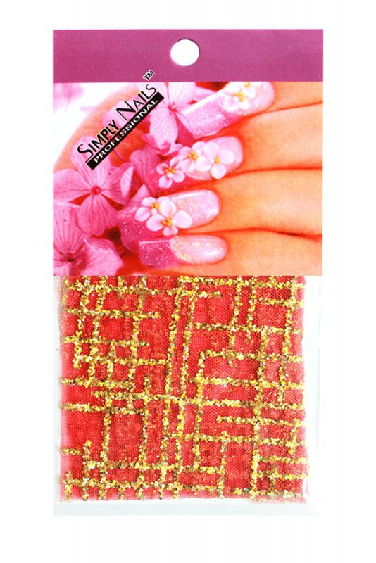 Simply Nails, Шелк для дизайна (Красная решетка)