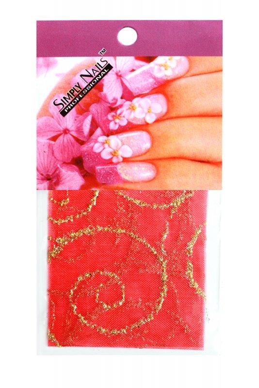 Simply Nails, Шелк для дизайна (Красные звезды)Шелк для дизайна<br>Идеально подходит для создания роскошного дизайна.<br>