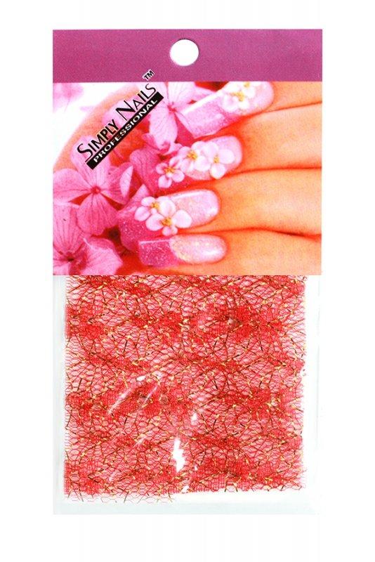 Simply Nails, Шелк для дизайна (Красный гипюр)Шелк для дизайна<br>Идеально подходит для создания роскошного дизайна.<br>