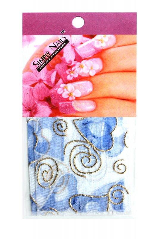 Simply Nails, Шелк для дизайна (Сердце синее)