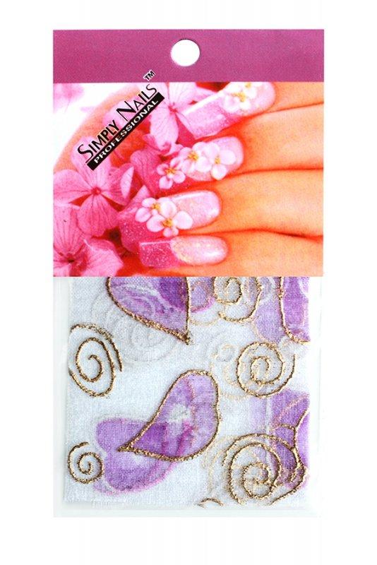 Simply Nails, Шелк для дизайна (Сердце сиреневое)Шелк для дизайна<br>Идеально подходит для создания роскошного дизайна.<br>
