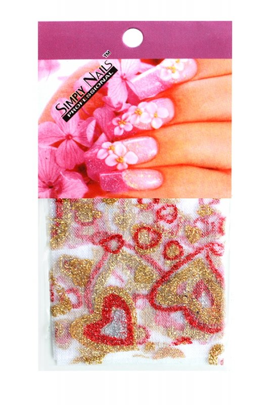 Simply Nails, Шелк для дизайна (Сердце цветное)