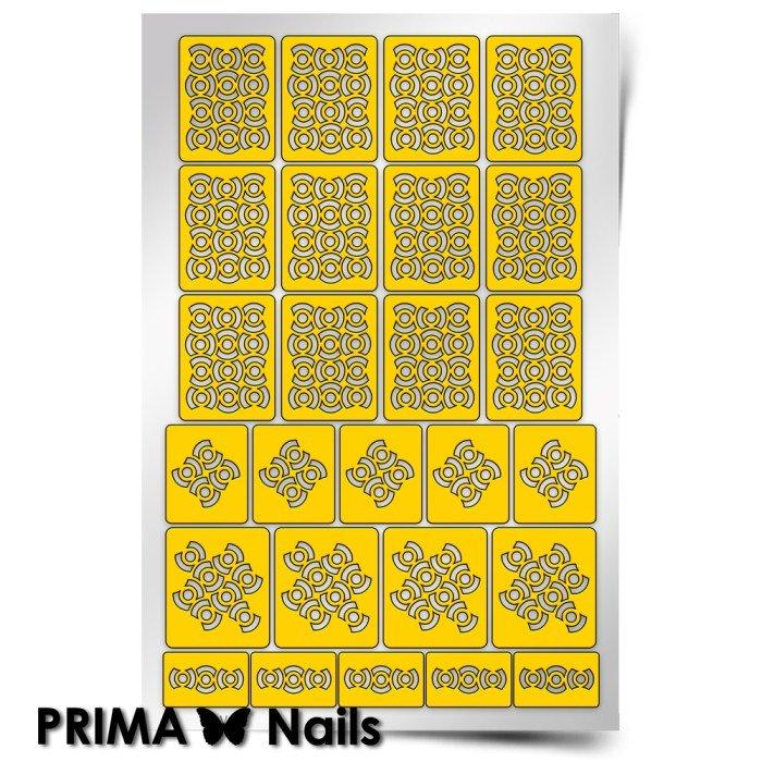 PrimaNails, Трафарет для дизайна ногтей - Абстракция - 1