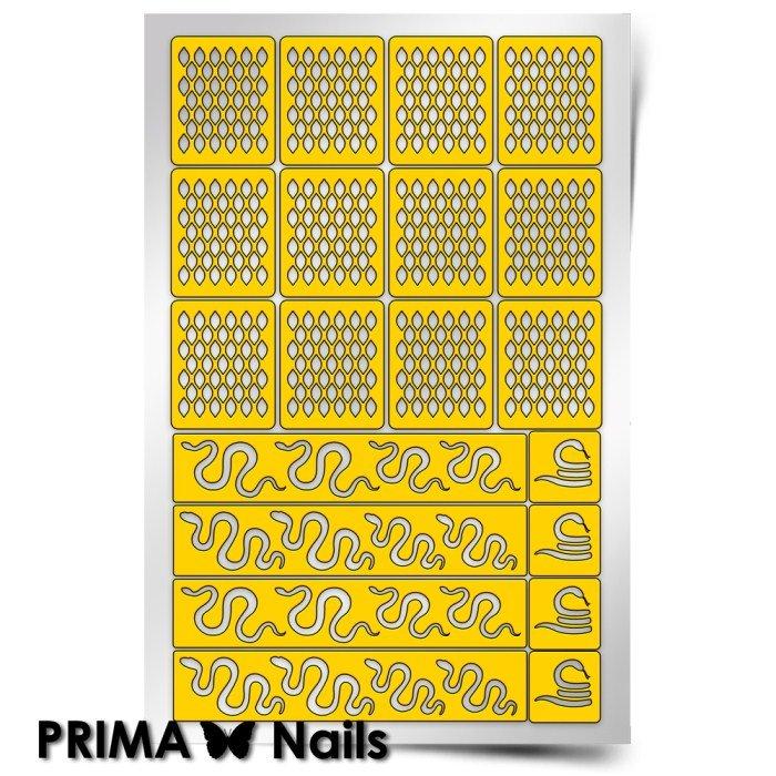 PrimaNails, Трафарет для дизайна ногтей - Змейка
