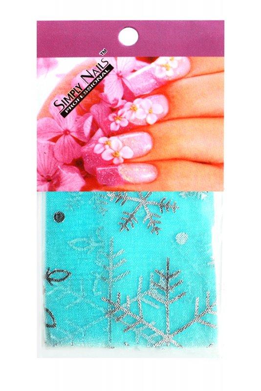Simply Nails, Шелк для дизайна (Снежинка голубая)Шелк для дизайна<br>Идеально подходит для создания роскошного дизайна.<br>