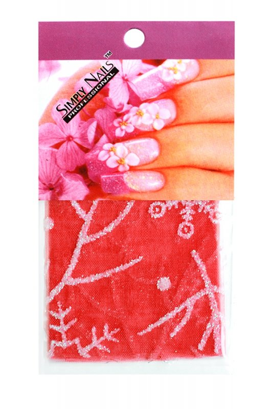 Simply Nails, Шелк для дизайна (Снежинка красная)Шелк для дизайна<br>Идеально подходит для создания роскошного дизайна.<br>
