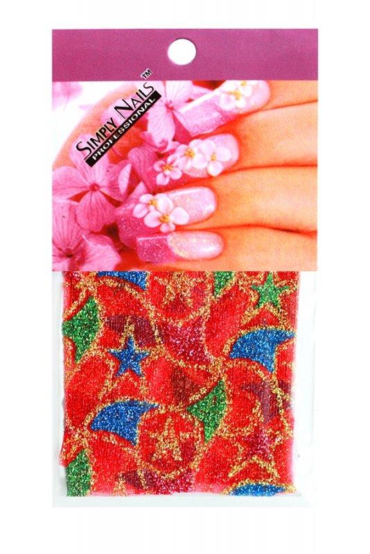 Simply Nails, Шелк для дизайна (Турецкие звезды)Шелк для дизайна<br>Идеально подходит для создания роскошного дизайна.<br>