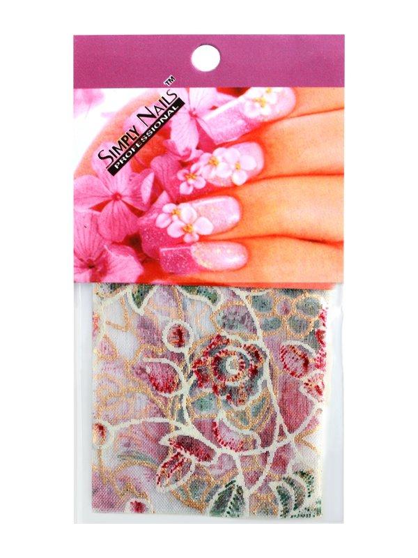 Simply Nails, Шелк для дизайна (Цветочный орнамент)Шелк для дизайна<br>Идеально подходит для создания роскошного дизайна.<br>