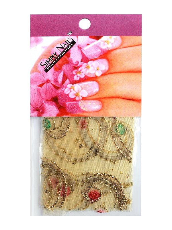 Simply Nails, Шелк для дизайна (Цветное золото)Шелк для дизайна<br>Идеально подходит для создания роскошного дизайна.<br>