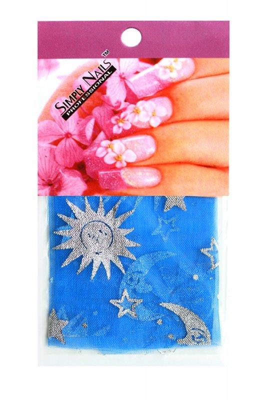 Simply Nails, Шелк для дизайна (Синяя ночь)Шелк для дизайна<br>Идеально подходит для создания роскошного дизайна.<br>