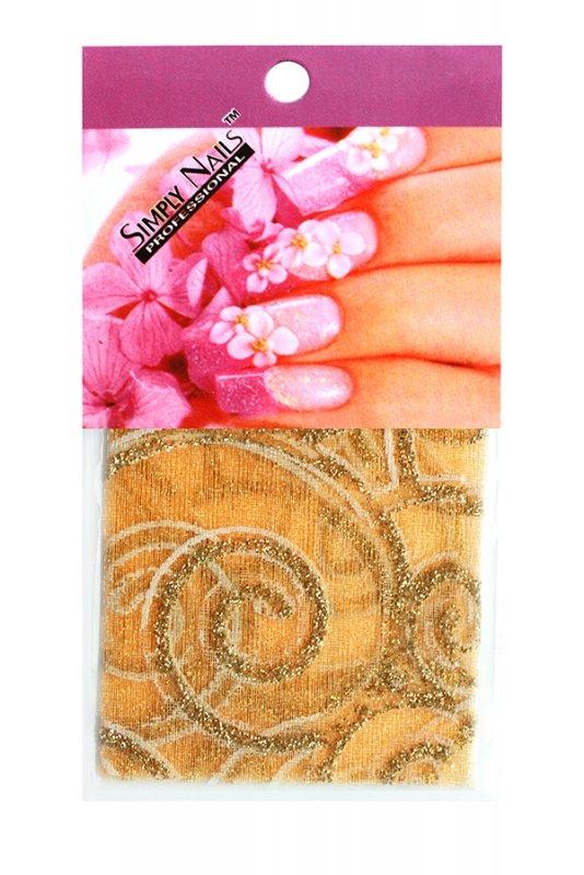 Simply Nails, Шелк для дизайна (Золотая вьюга)