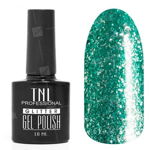 TNL, Гель-лак - Glitter №04TNL Professional <br>Гель-лак,изумрудный глиттер, плотный,10мл<br>