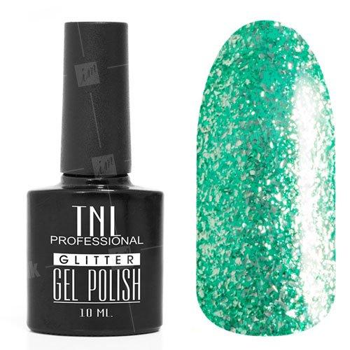 TNL, Гель-лак - Glitter №05TNL Professional <br>Гель-лак, мятныйглиттер, плотный,10мл<br>