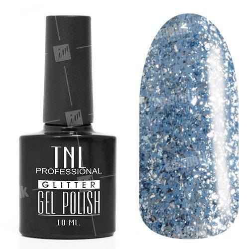 TNL, Гель-лак - Glitter №07TNL Professional <br>Гель-лак,синий глиттер, плотный,10мл<br>