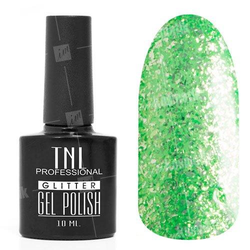 TNL, Гель-лак - Glitter №12TNL Professional <br>Гель-лак,салатовый глиттер, плотный,10мл<br>