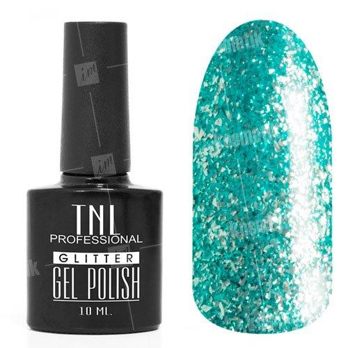 TNL, Гель-лак - Glitter №13TNL Professional <br>Гель-лак,бирюзовый глиттер, плотный,10мл<br>