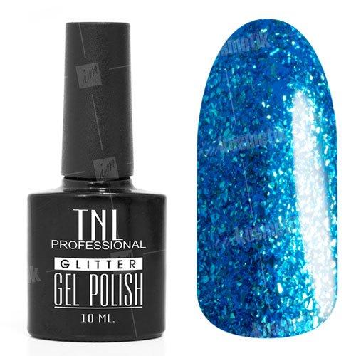 TNL, Гель-лак Glitter №22 - Сапфировый (10 мл.)TNL Professional <br>Гель-лак, сапфировый, с серебряной и сапфировой слюдой, полупрозрачный,10мл<br>