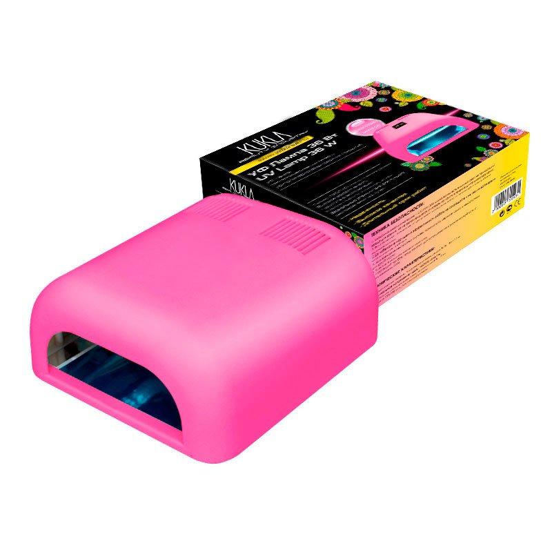 JessNail, KUKLA УФ лампа 36 Вт (розовая, матовая)УФ-Лампы<br>Профессиональная ультрафиолетовая лампа мощностью 36 Ватт.<br>