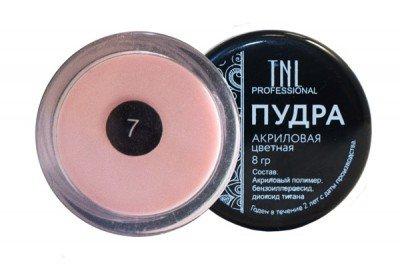 TNL, Акриловая пудра №07 - бледно-розовая (8 гр.)Акриловая пудра TNL<br>Цветная акриловая пудра, бледно-розовая<br>
