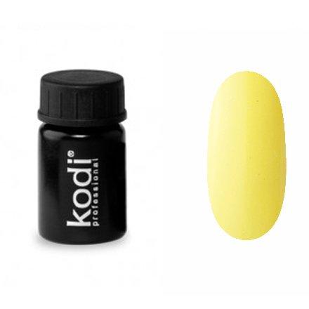 Kodi, Гель-краска №155 (4ml)Гель краски Kodi Professional<br>Гель-краска для дизайна без липкого слоя желтая, без блесток и перламутра, плотная, 4 мл.<br>