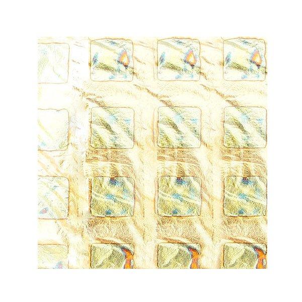 Jessnail, Фольга переводная в листах 50 листов/уп (Золото с рис. квадраты)