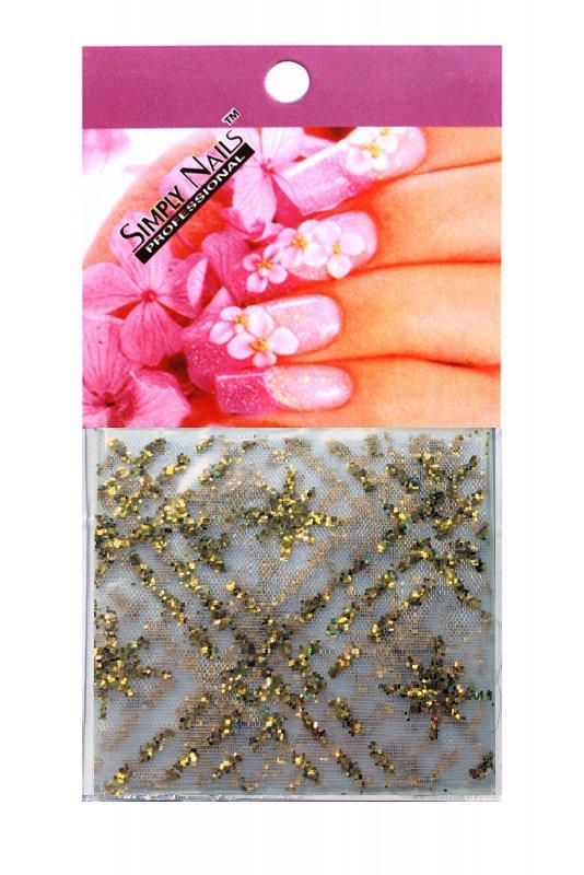 Simply Nails, Шелк для дизайна (Золотая сетка)