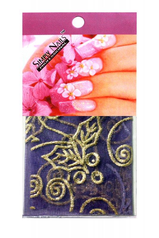 Simply Nails, Шелк для дизайна (Фиолетовый лист)Шелк для дизайна<br>Идеально подходит для создания роскошного дизайна.<br>