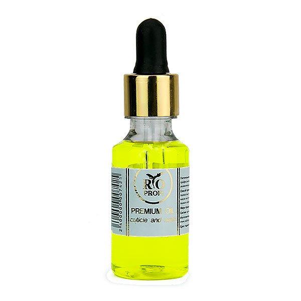 Rio Profi, Минеральное масло для кутикулы с пипеткой - Лимон (30 мл.)Масла для кутикулы<br>Минеральное масло для кутикулы с пипеткой<br>